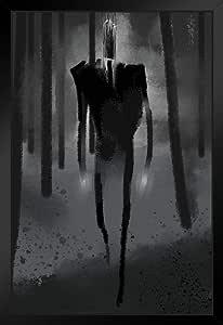 Slenderman Creepy 画作海报 30.48 x 45.72 厘米 裱框海报 14x20 inches 341987