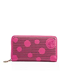 barbie 芭比 复古系列 女式 可爱俏皮镂空波点长款钱包 BBPSPTAI005.01A 玫红 19.5*10.5*2.5cm(供应商直送)