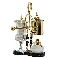 KAFFA经典皇家比利时壶 家用咖啡壶 泡茶壶 4人份 金/银色 (KAFFA金色比利时壶)