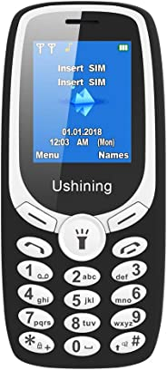 Ushining Unlocked 手机,长待机时间基本手机,T-Mobile 卡适合U181 3.7X1.8X0.7 黑色