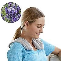 Carex 薰衣草围脖,温和冷*,*——颈部和肩部可微波加热垫,灰色