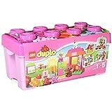 LEGO 乐高 得宝创意拼砌系列 乐高 得宝 多合一粉红趣味桶 10571 1½-5岁 积木玩具 婴幼