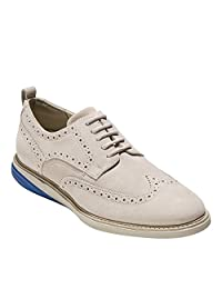 Cole Haan 男式 Grand Evolution Shortwing系列牛津鞋 Pumice Stone Suede-limoges-pumice Stone 9.5 D(M) US