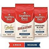 Seattle *好的咖啡中号烘焙研磨咖啡组合包,三包 12 盎司 包