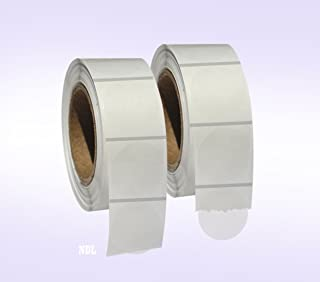 """2,000 Clear Retail Package Seals 1"""" Inch Round Circle Wafer Stickers/Labels 1,000 Per Roll - 2 Rolls per pack - Total 2000..."""