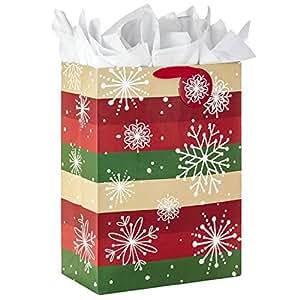 Hallmark 超大圣诞礼物袋带纸(雪花)