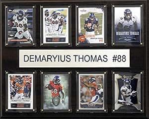 NFL Denver Broncos Demaryius Thomas 8 张牌匾,30.48 x 38.1 cm,棕色