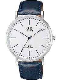 [西铁城 Q&Q]CITIZEN Q&Q 手表 模拟 皮带 海外款 白色 QZ02J301 男款