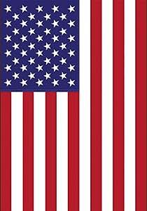 Toland Home Garden USA 12.5 x 18 Inch Decorative Patriotic America Red White Blue Country Nation Garden Flag