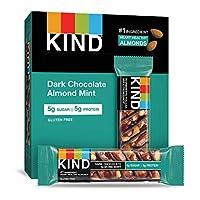KIND 能量棒 黑巧克力薄荷,无麸质,低糖,1.4盎司/约40克,12支
