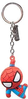 Bioworld BIO-KE020304SPN Marvel 漫画蜘蛛侠角色 3D 吊坠橡胶钥匙链,均码,钥匙圈,16 厘米,红色