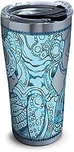 Tervis 1304555 Teal Octopus 不锈钢隔热玻璃杯 银色 20 oz Stainless Steel 1304555