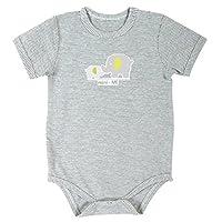 Stephan Mini-Me 灰色条纹按扣式尿布套,大象婴儿和哺乳动物,0-3 个月