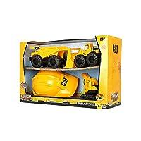 CAT 卡特彼勒 工程车组合四合一套装儿童玩具车运泥车装泥车挖土机工程帽(包装尺寸17*47*31cm)