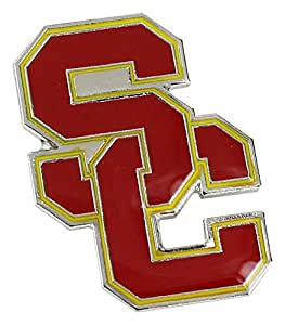 NCAA USC Trojans 标志别针,红色,2.5 码