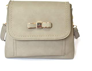 Charmant Charlie 女式斜挎包带装饰蝴蝶结 - 60.96 厘米金属带吊坠链,翻盖磁扣