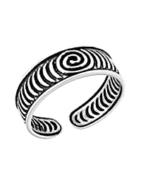AeraVida *螺旋 925 纯银趾戒或粉色戒指