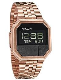 Nixon Re-Run A158。 100m 防水男式数字手表(38.5 毫米数字手表表面)。 13-18 毫米不锈钢表带)