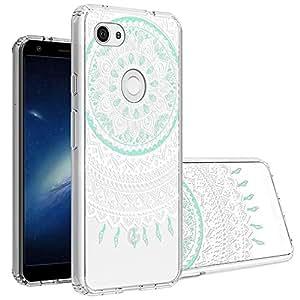 Topnow 谷歌 Pixel 3a XL 手机壳,透明设计塑料硬质后壳,带 TPU 缓冲保护壳,适用于 Google Pixel 3 Lite XL *花朵