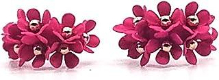 波西米亚花时尚耳钉