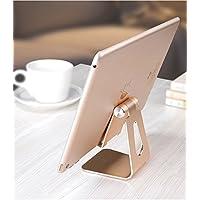 铝合金平板电脑支架 手机ipad通用 可折叠调角度 金属桌面支架 (金色Z4)
