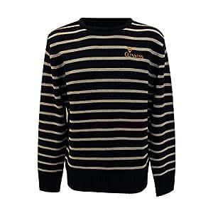 官方吉尼斯圆领十字绣毛衣,灰色和黑色条纹 灰色 大