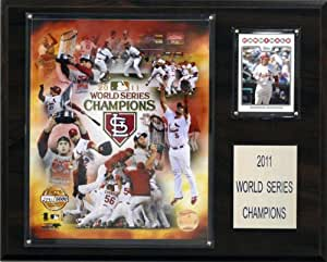 c & i collectables mlb cardinals 2011 world series limited edition champions plaque