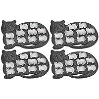Fairly Odd Novelties FON-10010-4 形狀冰塊托盤趣味可愛動物復制模 - 非常適合愛貓人士,黑色,4 只裝,均碼