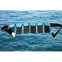 AKM - 水肺潜水重量腰带(6 个口袋蓝色大号)
