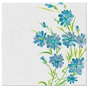 Nicole Home 系列 24 支装磨光餐纸盘,10 英寸 蓝色(Blue Floral) 77124
