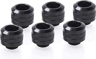 Alphacool Eiszapfen PRO 硬管接头 G1/4,13 毫米外径,深黑色,6 件装
