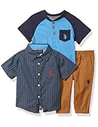 U.S. Polo Assn. 男宝宝裤子套装