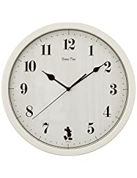 SEIKO 精工 时钟 挂钟 米老鼠 模拟 米奇和朋友们 Disney Time 象牙色 FW577A SEIKO