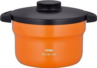 Thermos 膳魔师 真空保温焖烧锅 shuttle chef 2.8升 (3~5人用)烹饪锅氟涂层处理 橙色 2.8L KBJ-3000 OR