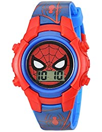 Marvel 男童石英塑料休閑手表,顏色:藍色(型號:SPD4516)