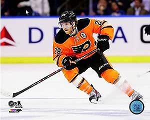 NHL Claude Giroux Philadelphia Flyers 2014-2015 动作照片(尺寸:20.32 cm x 25.40 cm)