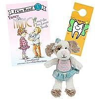 Tooth Fairy 套件 - Masion Chic,Tooth Fairy 书和门挂钩,适合女孩们将*只牙齿放松 Puppy Dog TF w/ Fancy Nancy & the Too Loose Tooth Book Mollie Dog Tf / Fancy Nancy