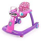 学步车多功能防侧翻 助步车推车 6/7-18个月婴幼儿男宝宝 手推可坐女孩 (紫)