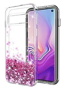 Galaxy L 手机壳 SunStory 奢华时尚设计,闪亮的快沙闪耀双重保护,PC 层和 TPU 缓冲手机壳适用于三星 Galaxy 手机。 玫瑰金