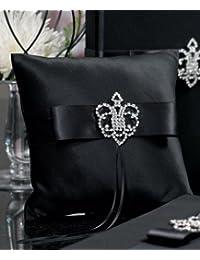 Weddingstar Beverly Clark 皇冠宝石系列戒指枕,黑色