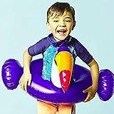 致暖Warmest 火烈鸟儿童游泳圈 儿童手臂圈 螃蟹水袖 加厚 宝宝游泳圈装备 (犀鸟开叉趴圈(3-10))【Instagram网红款】