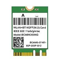 即插即用 Hackintosh M.2 NGFF WLAN BCM94360NG 802.11ac 蓝牙 4.0 WiFi 卡 适用于 PC Catalina mac OS Native Support macOS AirDrop 连续关机 Better BCM94352Z DW1560 支持 Intel NUC