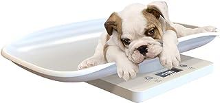 SH-RuiDu 数字新生儿小型动物体重秤 LCD 显示宠物狗体重秤 带舒适的曲线平台 10 千克容量