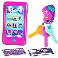 JOYIN Play-act 假装游戏智能手机,钥匙玩具和信用卡套装