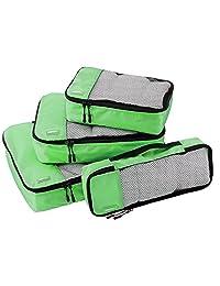 AmazonBasics Packing Cubes - Small, Medium, Large, and Slim (4-Piece Set)