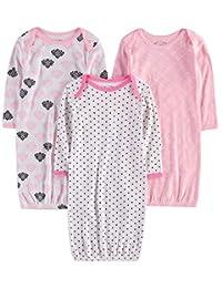 Wan-A-Beez 男婴和女婴印花婴儿睡衣 3 件套