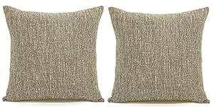 Ursulay 2 件装大号装饰抱枕靠垫枕套枕套 Khaki 2 20x20Inches
