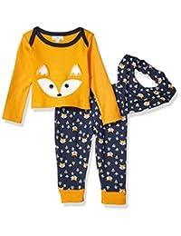 Quiltex 男童幼儿野生自由连脚裤,上衣和围嘴 3 件套