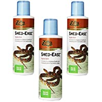 Zilla Reptile Health Supplies Shed-Ease Bath, 8-Ounce Bottles (3 Pack)