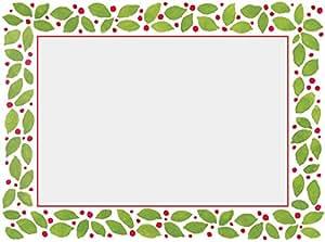 Photo 圣诞卡片圣诞照片卡片即剥即贴4X 6假期照片 绿色 Box of 10